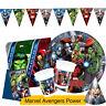Marvel AVENGERS POWER Birthday Party Range - Tableware & Decorations {Procos}