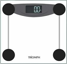 Triomph Smart Digital Body Weight Bathroom Scale with Step-On Technology, Black