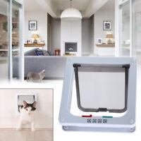 4 Way Medium Pet Cat Puppy Dog Magnetic Lock Lockable M SIZE Safe Flap Door