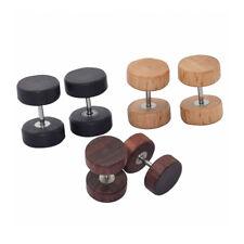 High Quality Craft Origin Wooden Earrings Tribal Boho Wood Barbell Ear Stud 8mm