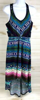 Maurices Womens High-Low Blue Green Floral Racerback Sundress Size Medium A4408