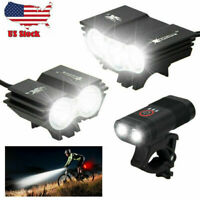 Super Power 15000LM LED Mountain Bike Front Light Bicycle Headlamp Taillight