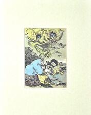 Salvador Dali Lithograph Les Caprices De Goya Principio De Incertidumbre 1977