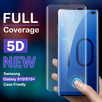 5D Cruved Clear Soft Screen Protector Case Friendly For Samsung Galaxy S10 Plus