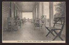 Postcard BRISTOW VA Linton Hall Porch View 1930's