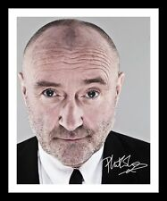 PHIL COLLINS AUTOGRAPHED SIGNED & FRAMED PP POSTER PHOTO