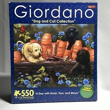 550pc Puzzle Dog And Cat Collection 'A Day With Noah, Tess & Maya' By Giordano