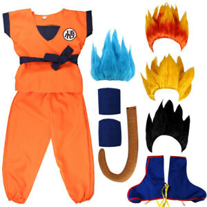 Halloween Dragon Ball Goku Costume Children's Men's Cosplay Anime Costume