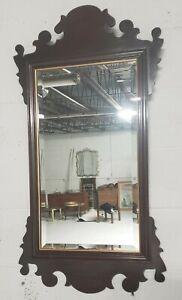 Ethan Allen Georgian Court Cherry bevelled Mirror Chippendale #225 Excellent