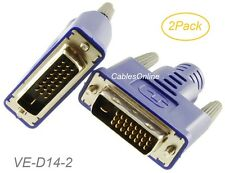 2Pack Graphics Card Display Emulator DVI-D Monitor Dummy Plug Adapter, 2560x1600