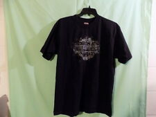 Harley Davidson T-shirt XL Black Short Sleve Holoubeck Cotton U.S.A. FREE SHIP