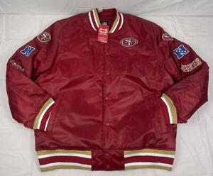 NFL Team Apparel San Francisco 49ers NFL Satin Jacket Men's Size 2XL NWT
