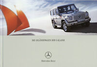 Mercedes G-Klasse Prospekt 2005 6/05 brochure G 270 CDI 400 500 55 AMG broschyr