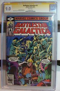 🎈Battlestar Galactica 1978 marvel Comic Book cgc SIGNATURE SERIES #11 RARE 9.0