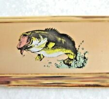 NEW big trout money clip Gold metal * free US ship