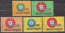 POLAND 1967 Matchbox Label - Cat.Z#779 I/V set, Drink coffee Marago.
