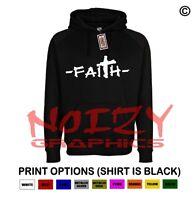 Faith Cross #2 Christian Hoodie Black Sweatshirt Jesus Religious Rock Hip Hop
