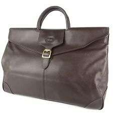 Auth LONGCHAMP Logos Leather Briefcase Travel Hand Bag F/S 20210eSaM