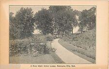 c1905 A Rose Walk, Arbor Lodge, Nebraska City, NE Postcard