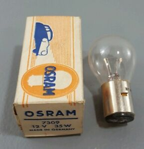 New NOS AUTO LIGHT BULB 12V 35W VINTAGE GENUINE OSRAM 7309, DATSUN