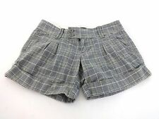 ABERCROMBIE & FITCH WOMENS GRAY BEIGE COTTON STRETCH SHORTS SIZE 0 SUPER CUTE!