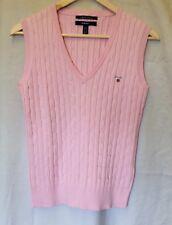 Gant Tank Top (Sz Medium) Pink Sleeveless Jumper Cotton High Quality