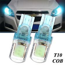2x T10 194 W5W COB LED Car Super Bright Silica License Plate Light Bulb Blue 12V