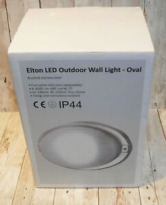2 x LED Outdoor Garden Wall Bulk Head Lights 9w 240v Stainless Steel / Glass