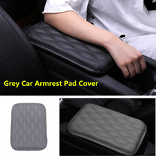 Grey Dust-proof PU Leather Car Armrest Pad Cover Auto Center Console Cushion Mat