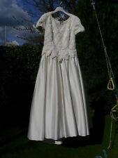 Brautkleid Größe 42/44 Satin Champagnerfarben wunderschön