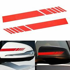 Red AMG Style Racing Stripes Side Mirror Vinyl Decal Sticker For Mercedes Benz