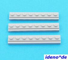 LEGO STAR WARS 3 pcs.plaque 1 x 8 Avec Rails NEUF gris clair 4510 4211498 NEUF