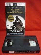 ALL QUIET ON THE WESTERN FRONT VHS VIDEO TAPE B+W CLASSIC MOVIE