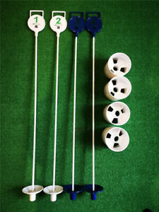 A99 Golf Putting flagstick w. cup (4 sets) Practice Putting Green Flag Stick