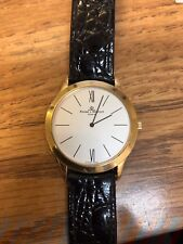 Vintage Baume & Mercier Men's 18kt Yellow Gold on Leather Strap Watch MV045154