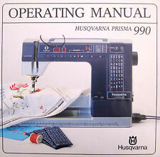 Husqvarna Viking Prisma 990 Sewing Machine Instruction Manual on DVD/PDF format