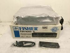 Vintage Fisher Fvh-4000 Vhs Video Cassette Recorder With Remote Control