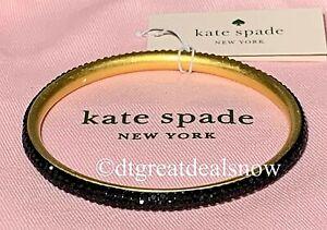NEW Kate Spade Razzle Dazzle Bracelet Black Pave Bangle