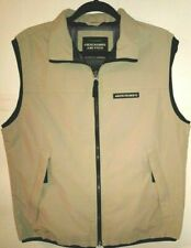 Vintage Abercrombie & Fitch Zip Vest Men's Small Tan Rugged Quality Lightweight