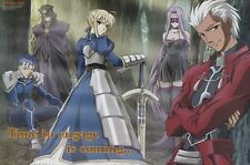 poster promo Fate stay night Gundam Z anime Saber Archer Rider Lancer Caster