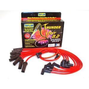 Taylor Spark Plug Wire Set 84276; ThunderVolt 8.2mm Red for Dodge/Jeep V8
