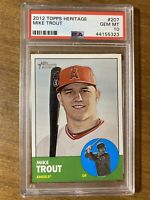 2012 TOPPS HERITAGE #207 MIKE TROUT RC ANGELS ROOKIE CARD PSA 10 GEM MINT HOF