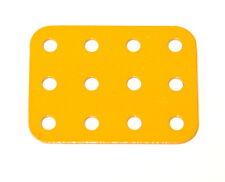 Meccano Part 74a Flat Plate 3x4 Hole UK Yellow