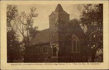 Egg Harbor NJ Emanuel Cong Church c1910 Postcard