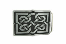 Celtic Cross Knot Rectangle Belt Buckle