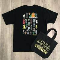 A BATHING APE BAPE x STAR WARS Collabo TEE Size M and Tote Bag Black Super Rare