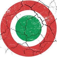 ITALIAN DISTRESSED ROUND CIRCLE CAR VAN LORRY VINYL SELF ADHESIVE STICKERS