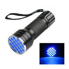 21 LED UV Flashlight Ultra Violet Lamp Fly Tying Blacklight UV Glue Curing Light