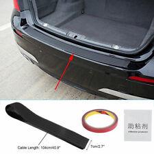 Car Rear Bumper Sill Protector Plate Rubber Cover Guard Back Door Boot Trim NEU