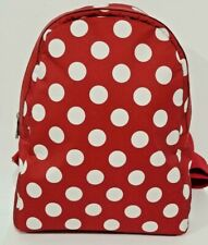Italian red backpack-combo leather & polka dots! by  Vittoria Pacini